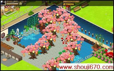qq餐厅春季豪华装修:浪漫的樱花小道